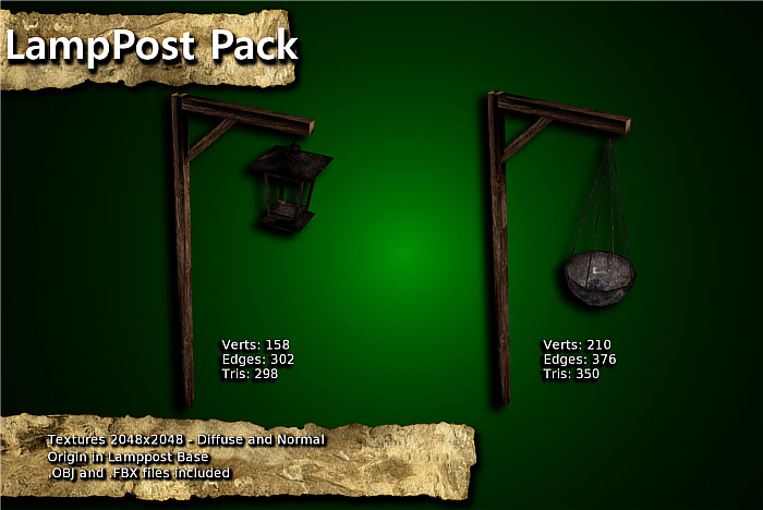 Medieval Lamppost Pack
