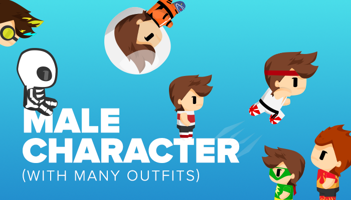 Male Character with Many Outfits
