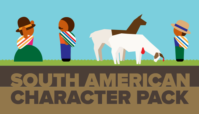 South American Character Pack – Men, Women, and Llamas