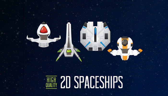 2D Spaceships – 4 Pack