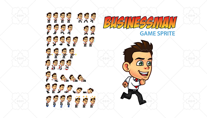 Businessman Game Sprite