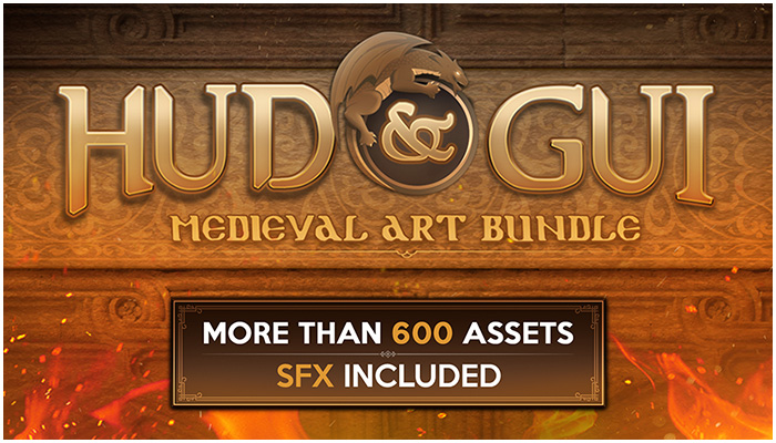 HUD and GUI Medieval Art Bundle