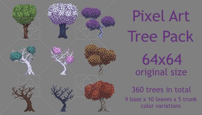 Pixel Art Tree Pack