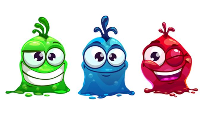 Funny liquid characters