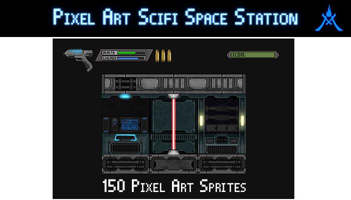 Pixel Art Scifi Space Station