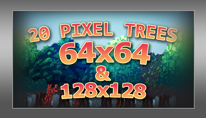 20 Pixel Trees Pack