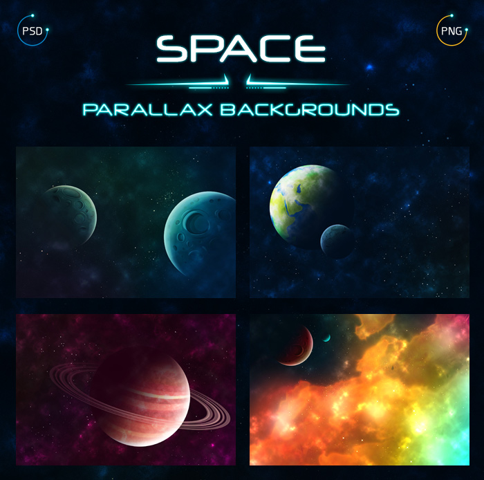 Space Parallax Backgrounds