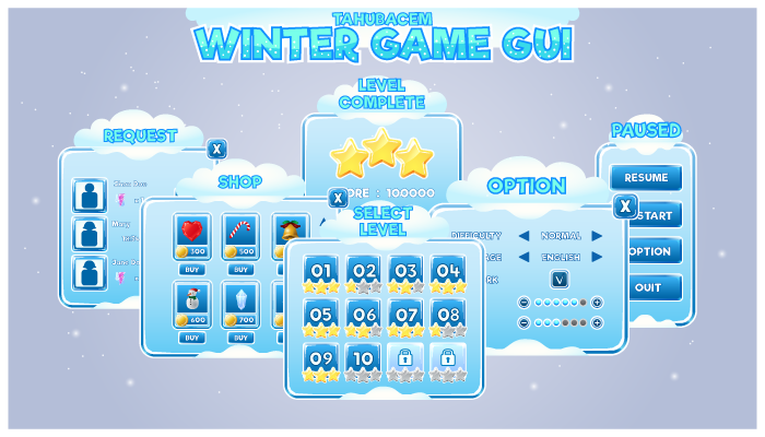 Winter Game GUI