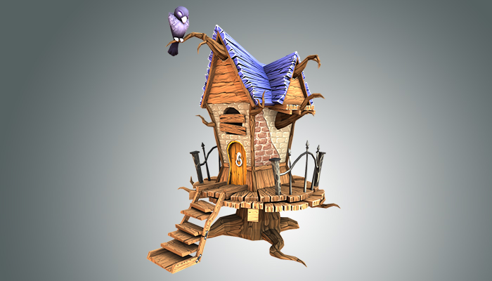 Low Poly Creepy House