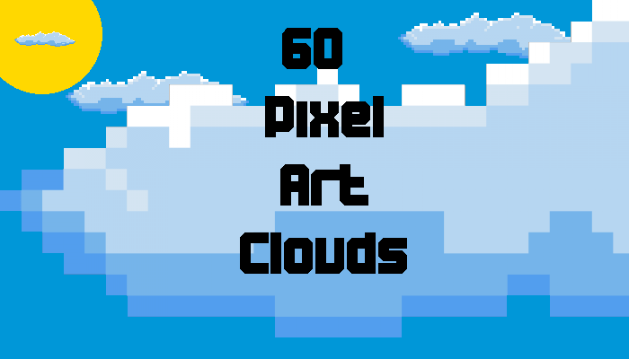 60 Pixel Art Clouds