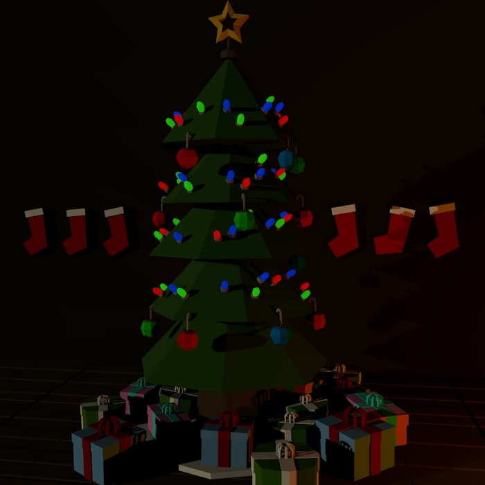 Low Poly Christmas Assets