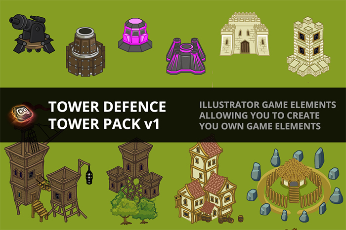 Tower Defence – Tower Pack v1