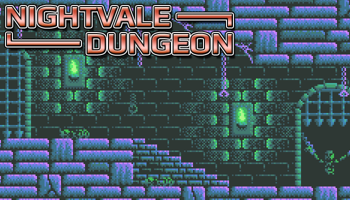 Nightvale Dungeon – Pixel Art Sidescroller Dungeon Tileset