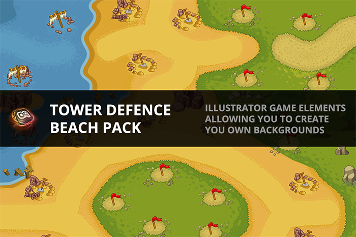 Tower Defence – Beach Pack 1