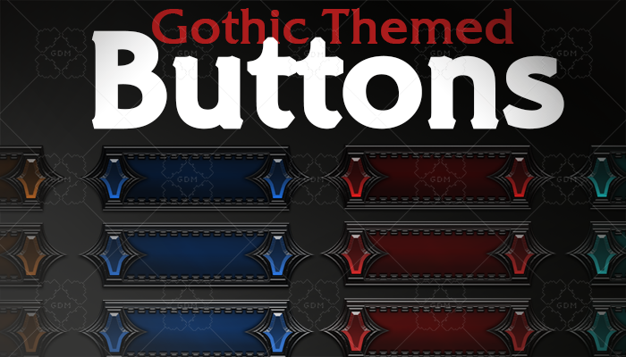 Gothic Themed Buttons