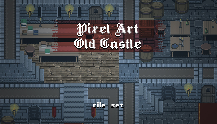 Pixel Art Old Castle