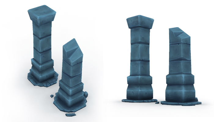 Low Poly Dungeon Columns