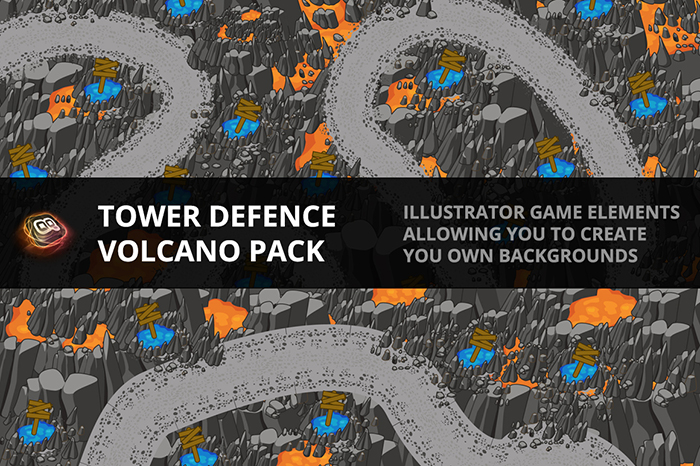 Tower Defence – Volcano Pack 1