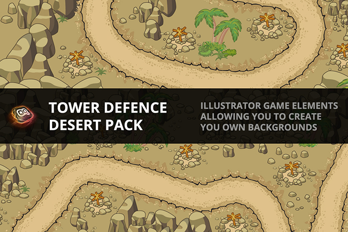 Tower Defence – Desert Pack 1