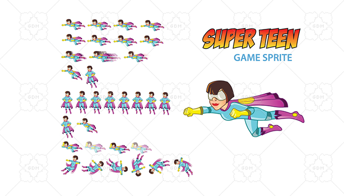Super Teen Game Sprite