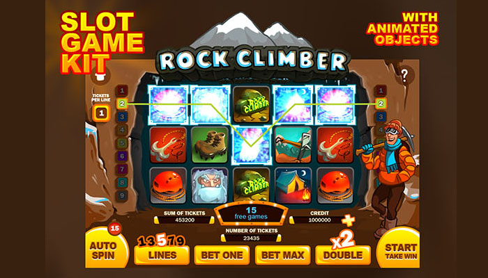 Rock Climber slot game kit
