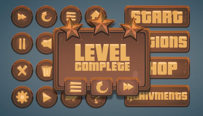 Game UI Bronze