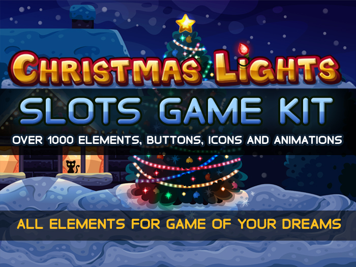 Christmas lights slots game kit