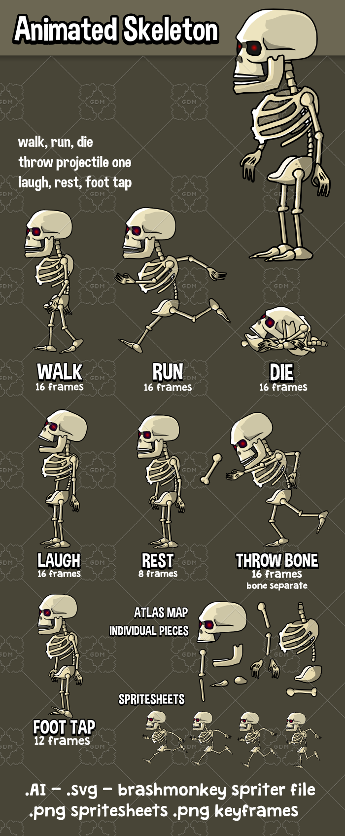 Animated skeleton