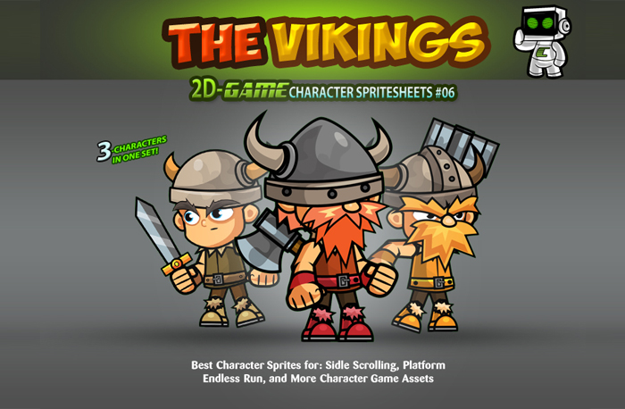 The Vikings 2D Game Character SpriteSheets 06