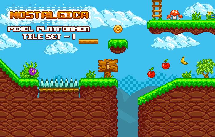 Nostalgica Pixel Platformer Tileset-1