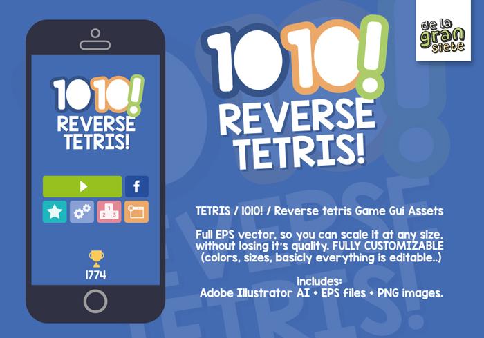 TETRIS / 1010! / Reverse tetris Game Gui Assets