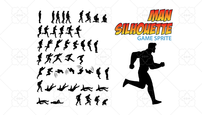 Man Silhouette Game Sprite