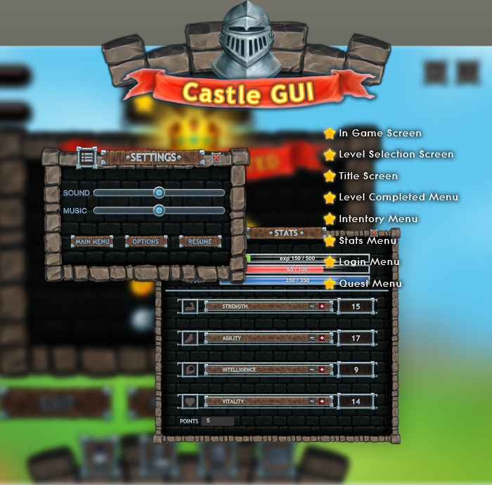 Castle Gui Set