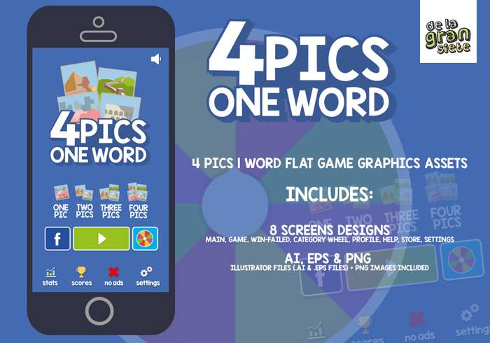4 Pics 1 Word Game Graphic Assets