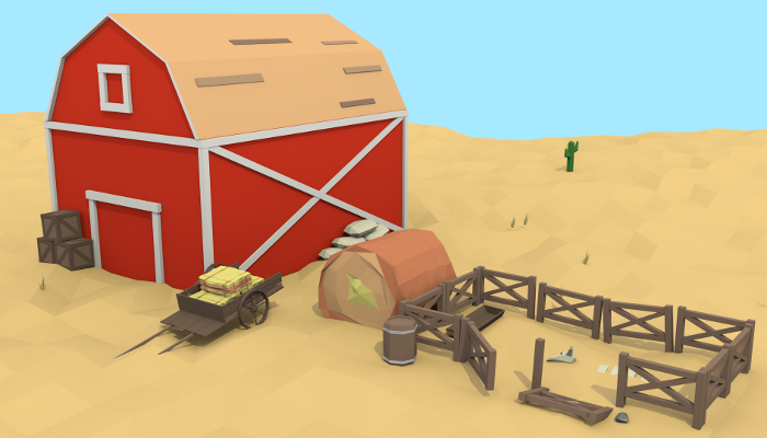 Low Poly Western Set