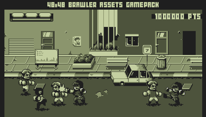 48×48 Gameboy brawler game pack
