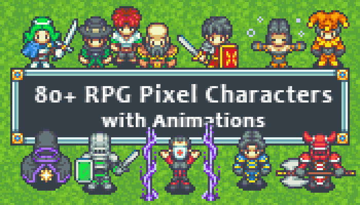 Over 80 RPG Characters w Animations