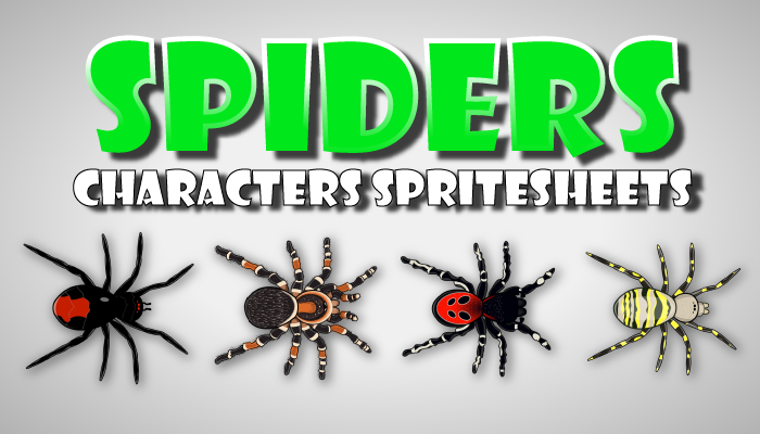 Spiders Characters Spritesheets