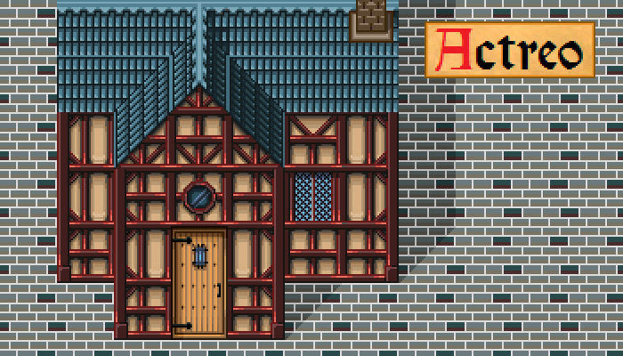2D House – Half Timbered