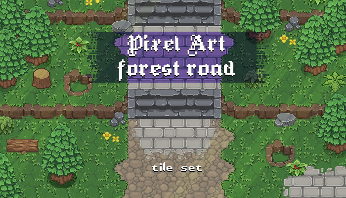 Pixel Art Forest Road