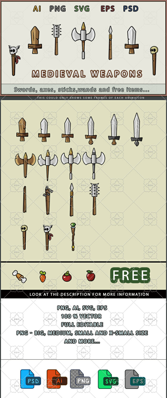 Weapons and FREE items