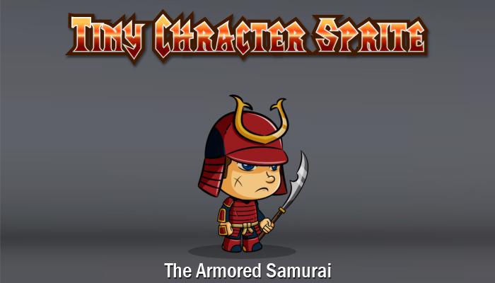Armored Samurai Character Sprite