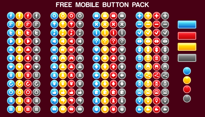 Free Mobile Button Pack