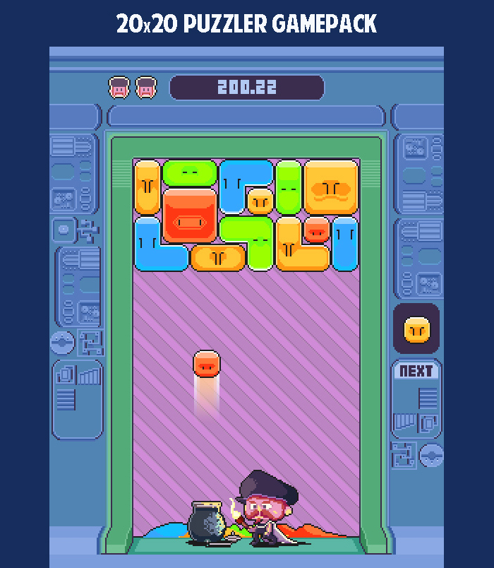 20×20 Puzzle Game assets pack
