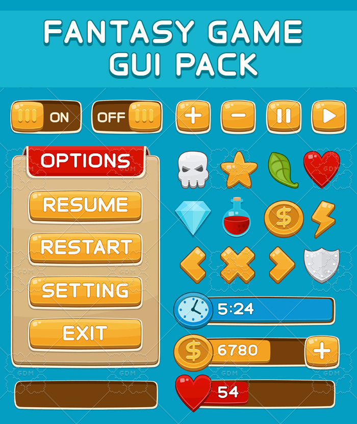 Graphical User Interface Set for Games