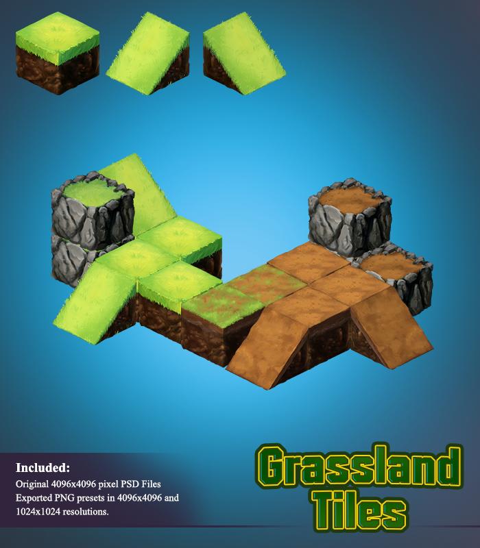 Grassland – 2D Isometric Tiles