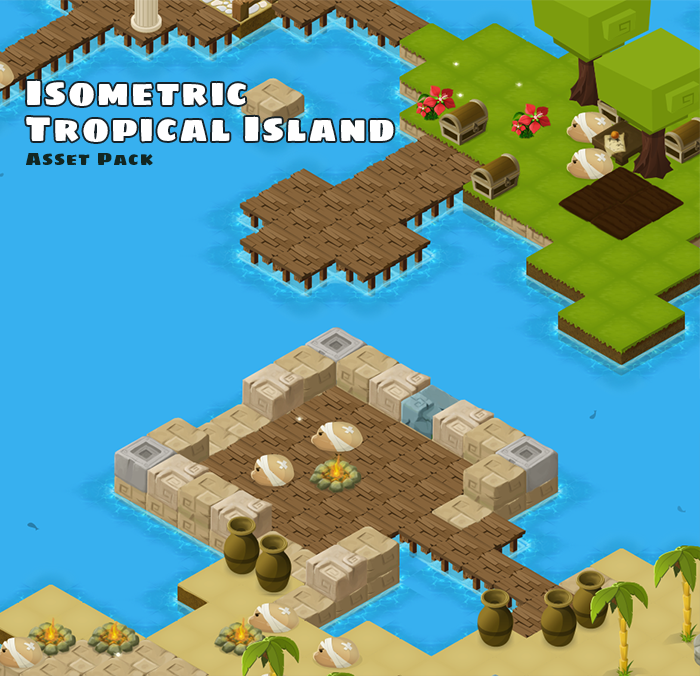 Isometric Tropical Island Asset Pack