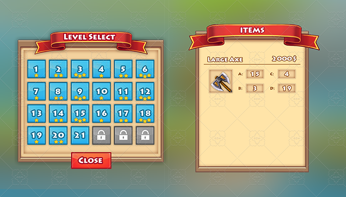 Fantasy 2D GUI