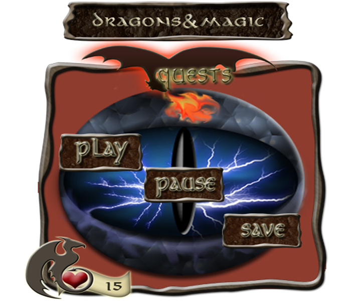 Dragons and Magic GUI Pack