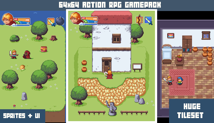 64×64 Action Rpg gamepack